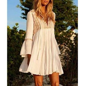 Embroidered Tunic Beach Dress